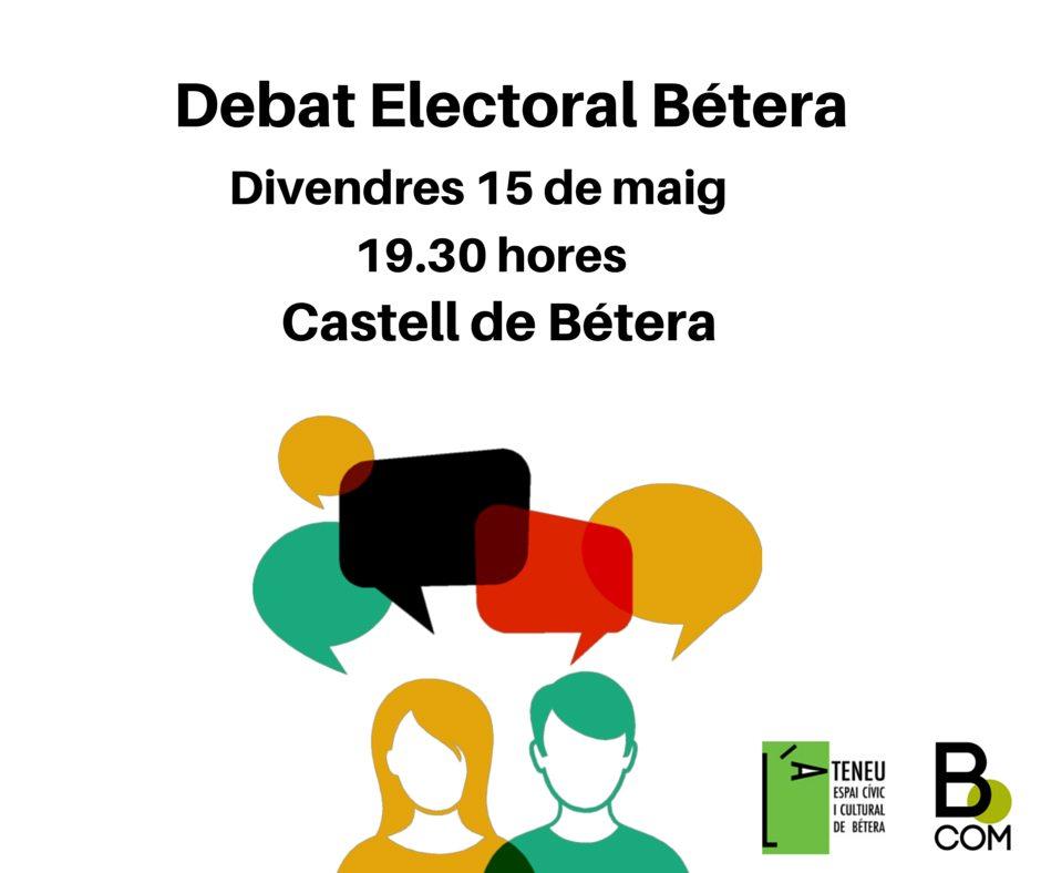 debat electoral betera cartel 1