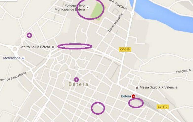 mapa wifi betera