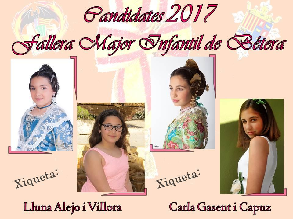 Candidates a Falleres Majors de Bétera 2017