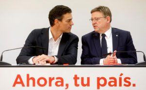 Imatge Efe: Pedro Sánchez i Ximo Puig
