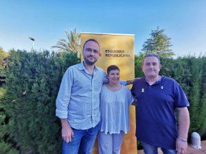 president d'ERPV Josep Barberà, junt a la presidenta local de Riba-roja Neus Calabuig i el president comarcal Vicent Roig